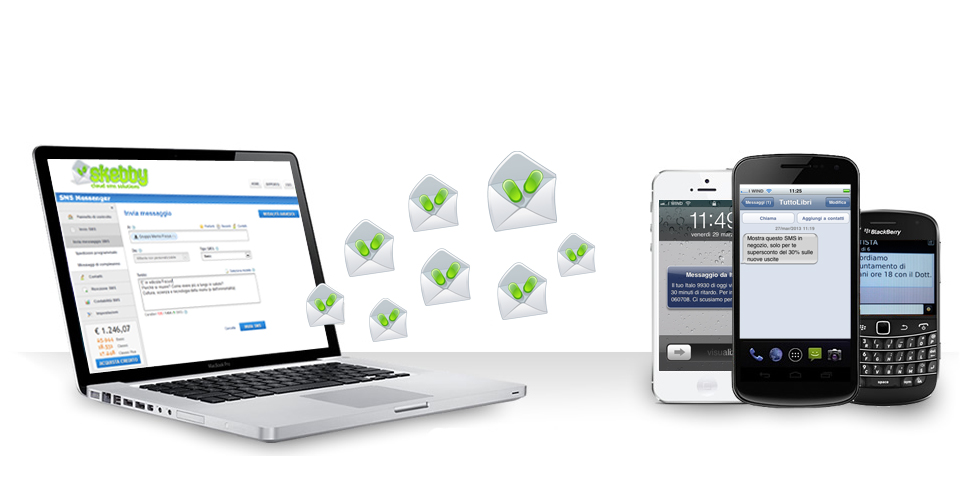 Skebby invia e riceve SMS da pc e mac con applicazione SMS via internet