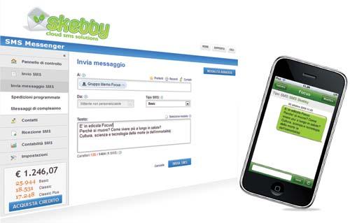 invia SMS da Web